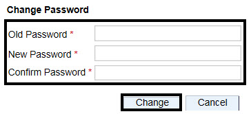 Change Password; Circle over: Old Password* blank box; New password* blank box; Confirm Password* Blank box