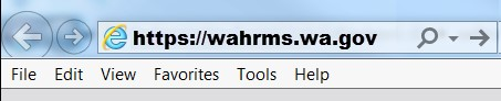 Web address in Internet browser: https://wahrms.wa.gov