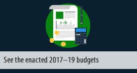 See enacted 2017-19 budgets