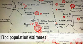Find population estimates